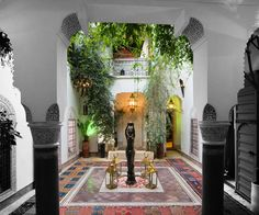 Riad patio, Marocco