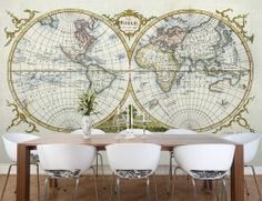 This is happening somewhere in my home my home redo pinterest wallpaperedvintage world map gumiabroncs Images