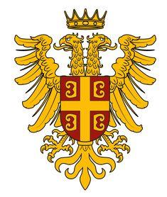 Coat of Arms for the Byzantine Empire. Byzantine Army, Fake History, Imaginary Maps, Medieval Shields, Roman Warriors, Empire Romain, Roman Art, Alternate History, Dark Ages