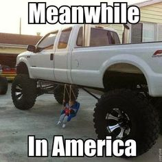 Jacked up trucks memes Truck Quotes, Truck Memes, Funny Car Memes, Memes Humor, Funny Shit, Hilarious, Ford Memes, Lifted Trucks Quotes, Truck Humor