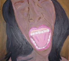 Sem título, tinta a óleo sobre tela, 2012, por Jéssica Batista.