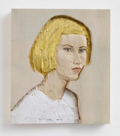 Stephan Balkenhol, Woman (relief), 2013, painted poplar wood, 33 x 28,5 cm © Stephan Balkenhol / Stephen Friedman Gallery