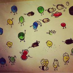 Finger painting ideas | funnycrafts Finger Painting For Kids, Finger Paint Art, Finger Fun, Homeschool, Activities, Footprint, Painting Art, Christmas Ideas, Artist