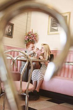 ice cream engagement pictures Photo By Poppy Seed Photography