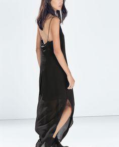 good black/weekend/day date - ZARA - SALE - LOW-CUT LACE DRESS