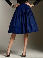 Talbot's Festive blue silk taffeta skirt -