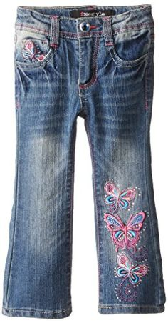 Freestyle Revolution Little Girls' Butterfly Boot Cut Jean, Tulah Wash, 4 Freestyle Revolution http://www.amazon.com/dp/B00Z03NVDA/ref=cm_sw_r_pi_dp_UK-owb1A6EWHH