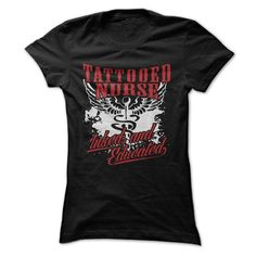 If you are a tattooed nurse this design is perfect for you. Grab it.