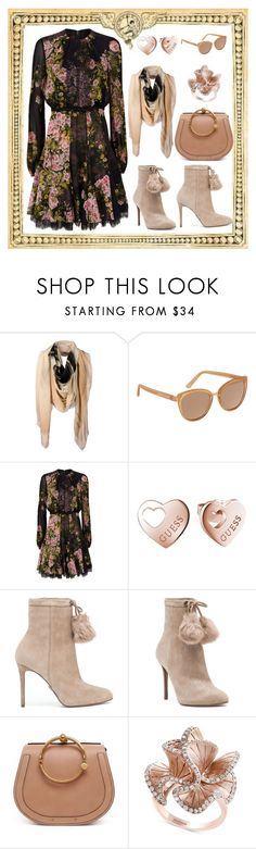 """Giambattista Valli Rose Midi Dress"" by nova5ta5ia ❤ liked on Polyvore featuring The Textile Rebels, Vince Camuto, Giambattista Valli, GUESS, MICHAEL Michael Kors, Chloé and Effy Jewelry"