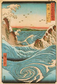 Awe Province Navaro Rapids by Ando Hiroshige