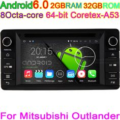Android 6.0 Octa Core 32GB ROM 2GB RAM Car GPS Stereo Video Radio DVD Music player for Mitsubishi Outlander 2012 2013 2014 2015