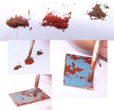 Hi! some time ago I made a little tutorial about making battle damage using masking fluid and pastels. the first step was to paint an ent...