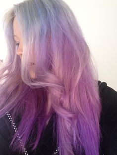 My blue/lilac/purple gradient hair