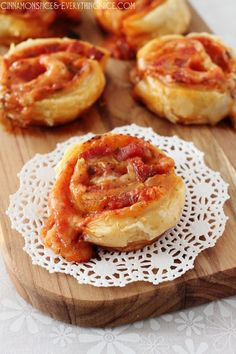 Pepperoni Pizza Puff Pastry Roll-Ups