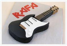 Tarta Fondant Guitarra Eléctrica