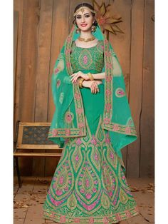 Intense Jade Green Designer Indian Lehnga Choli