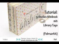 Video Tutorial von Mel für www.danipeuss.de | schnelles Minialbum mit Library Tags aus dem #dpFebruarkit15