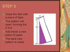 A-LINE SKIRT. A Line Skirt Pattern, Sewing Hacks, Sewing Tips, Bape, Dressmaking, A Line Skirts, 3 D, Writing, Youtube