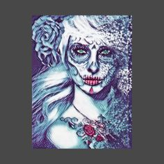 Beautiful Day of the Dead Illustration #dayofthedead