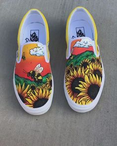 Painted Canvas Shoes, Custom Painted Shoes, Painted Sneakers, Disney Painted Shoes, Painted Vans, Hand Painted Shoes, Dr Shoes, Hype Shoes, Slip On Shoes