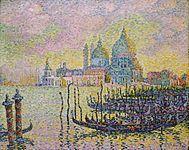 Pointillisme Grand Canal Paul Signac  Heel veel stippen  primaire en secundaire kleuren