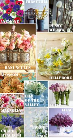early spring #wedding flowers guide by @Lilly Nolta The Florist (march/april) themarriedapp.com hearted <3