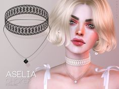 Pralinesims' Aselia Choker Sims 4 Cas, Sims Cc, Sims 4 Black Hair, Piercings, Best Sims, Sims Four, Queen Makeup, Sims 4 Cc Finds, Sims Resource