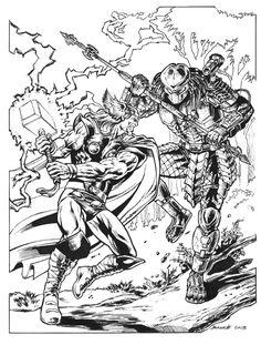 2249 mejores im genes de ics en 2019 drawings ic books art As the Darkness Jackie Estacado thor versus predator ic art