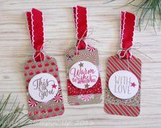 Christmas Tree Hanging Tags Set of 5 von EllocinDesigns auf Etsy