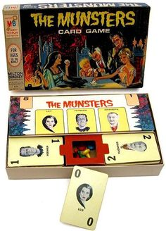 The Munsters (Card Game Munsters Tv Show, The Munsters, Old Board Games, Vintage Board Games, Retro Toys, Vintage Toys, 1960s Toys, Monster Toys, Monster Mash
