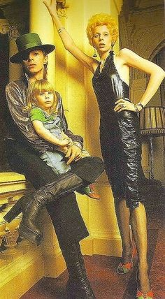 "Proud parents Angie and David Bowie with son Zowie Bowie in 1974.    Zowie Bowie has since taken on his father's real name and is now known as Duncan Jones, the director of the films ""Source Code and the brilliant ""Moon"""