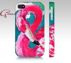 HOT Pink Flamingo Painting Phone iPhone Case cover by greerdesign