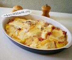 oignon, lardons, pomme de terre, morbier