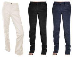 Calvin Klein Corduroy Pants 30 Inseam Straight Leg Power Stretch Slim Fit 4 8 10 #CalvinKlein #Corduroys