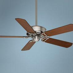 "54"" Casablanca Panama DC Nickel Energy Star Ceiling Fan - #3F904 | LampsPlus.com Remote control. Very energy efficient"