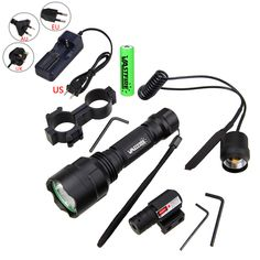 VastFire white light  Q5 LED Flashlight 4000LM+Red Dot Laser +Mount+Pressure Switch+battery+charger. Yesterday's price: US $45.99 (37.95 EUR). Today's price: US $28.97 (23.94 EUR). Discount: 37%.