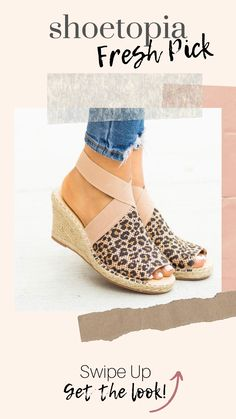 5452d3cbec2b7 Elastic Strap Peep-Toe Espadrille Wedges Get ready for the warmer weather  with these adorable