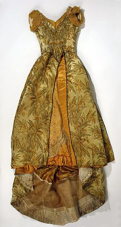 Evening dress | Attributed to House of Worth | French | 1891-1893 | silk, cotton | Metropolitan Museum of Art