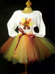 Thanksgiving Wish with Tom the Turkey Tutu & by SignatureHeads, $17.00