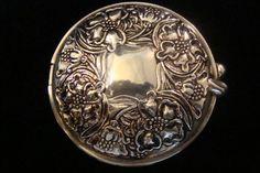 art nouveau silver compact