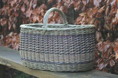 Like the colors and texture created by the different weaves in this basket by Hjørnholm Pil