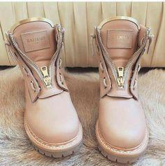 Balmain Zip Front Ranger Boots
