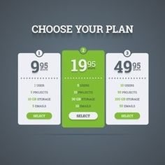 by zanimanski Pricing plans table. Vector illustration in flat style. Zip file included:- editable vector EPS 11 and Illustrator AI with non-ou Newsletter Design Templates, Logo Templates, Business Brochure, Business Card Logo, Plan Vector, Free Vector Images, Vector Free, Honey Logo, Table Template