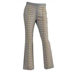 1stdibs   Moschino Military Band Embroidered Bell Pants