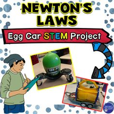 """This physical science STEM resource is a seven-page project to assess Newton's Laws of Motion. The activity can be used in groups or as an individual project. There are conclusion questions and a rubric to assess student learning. A """"cheat sheet"""" is included to help students relate the Laws to their vehicle's performance."""