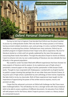 See our oxford personal statement format