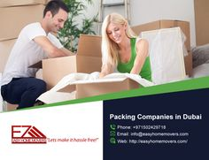 Easy Home Movers to professionally pack up your home with #Packing_Companies_in_Dubai.