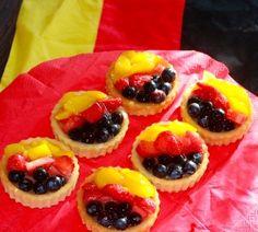 Obsttorteletts in Deutschland Farben