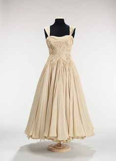 Jean Dessès (French, born Eqypt, 1904–1970). Evening dress, ca. 1955. French. The Metropolitan Museum of Art, New York. Brooklyn Museum Costume Collection at The Metropolitan Museum of Art, Gift of the Brooklyn Museum, 2009; Gift of Mary Sefton Thomas, 1986 (2009.300.559)