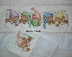 lençois em ponto cruz para bebe -❤️vanuska❤️